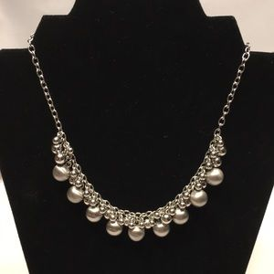 Bright polished silver necklace by Lia Sophia
